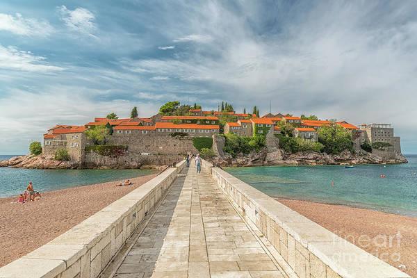 Balkan Peninsula Photograph - Montenegro Sveti Stefan Editorial by Antony McAulay