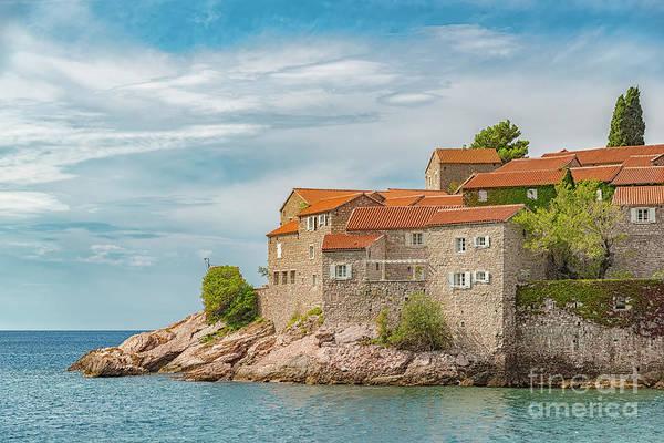 Balkan Peninsula Photograph - Montenegro Sveti Stefan Left Side by Antony McAulay