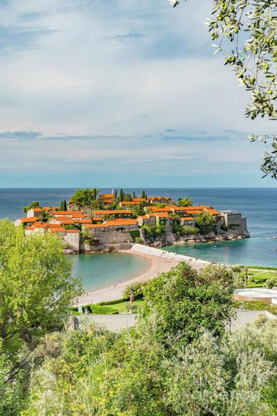 Balkan Peninsula Photograph - Montenegro Sveti Stefan Resort by Antony McAulay