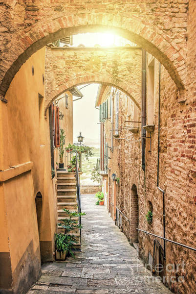Pavement Wall Art - Photograph - Montepulciano by Delphimages Photo Creations