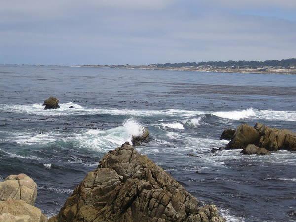 Photograph - Monterey Beach Waves California Usa by John Shiron