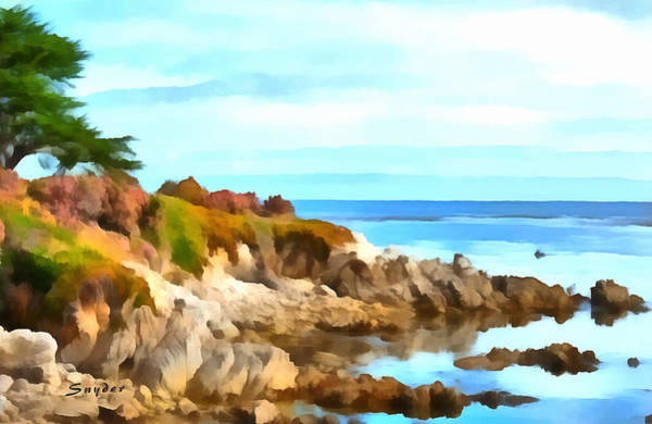 Photograph - Monterey Coastline Watercolor by Floyd Snyder
