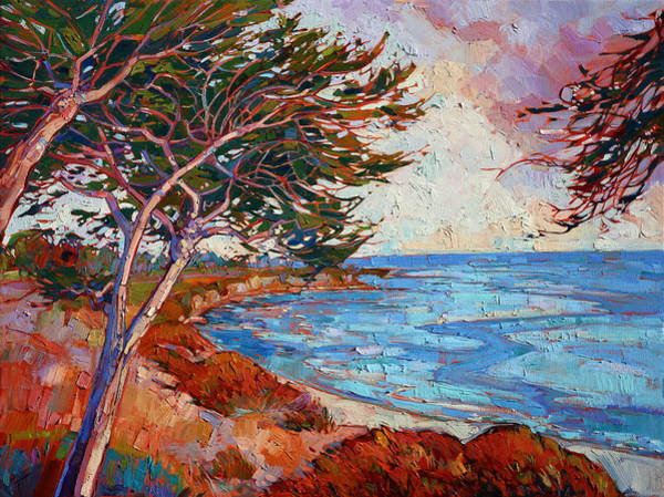 Wall Art - Painting - Monterey Cypress by Erin Hanson