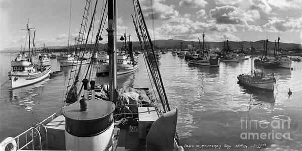 Photograph - Monterey Fishing Fleet In Monterey Harbor 1941 by California Views Archives Mr Pat Hathaway Archives