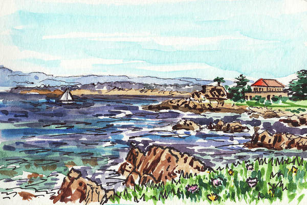 Wall Art - Painting - Monterey Pacific Ocean Shore  by Irina Sztukowski