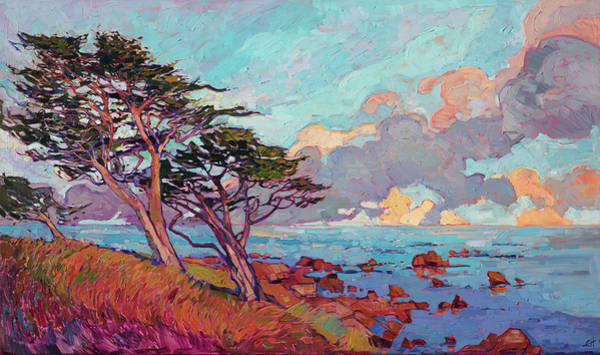 Wall Art - Painting - Monterey Pines by Erin Hanson