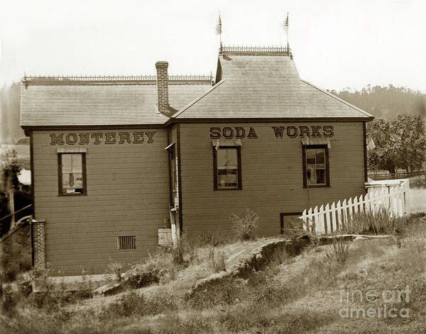 Photograph - Monterey Soda Works Circa 1895 by California Views Archives Mr Pat Hathaway Archives