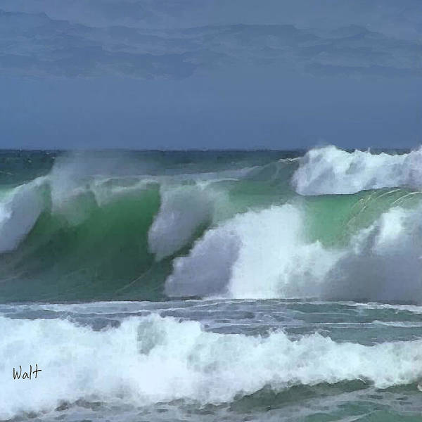 Digital Art - Monterey Surf by Walter Chamberlain