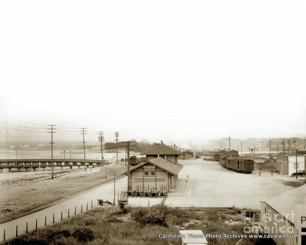 Photograph - Monterey Train Stationsouthern Pacific Railroad by California Views Archives Mr Pat Hathaway Archives