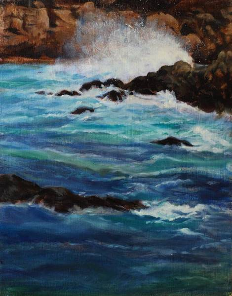 Thrilling Painting - Monterey Wave #2 by Joyce Snyder