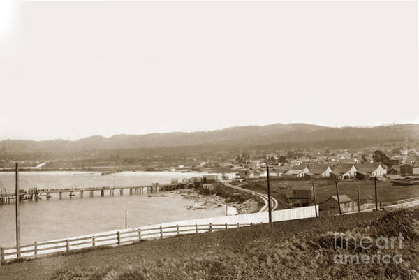Photograph - Monterey Wharf  And Railroad Tracks 1898 by California Views Archives Mr Pat Hathaway Archives