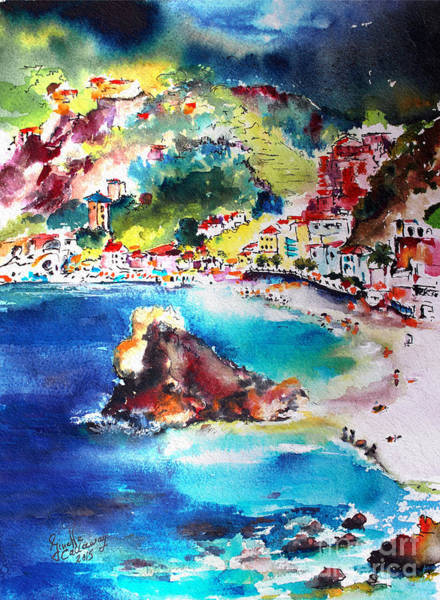 Painting - Monterosso  Cinque Terre Italy  by Ginette Callaway