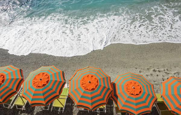 Photograph - Monterosso Umbrellas by Brad Scott