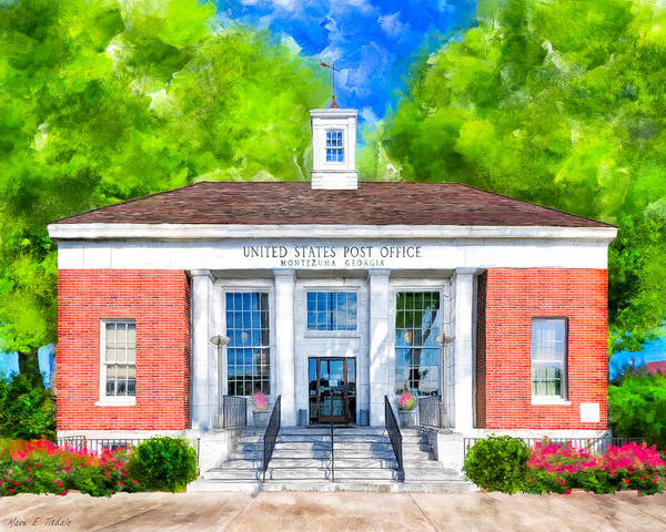 Wall Art - Mixed Media - Montezuma Georgia - New Deal Era Post Office by Mark Tisdale