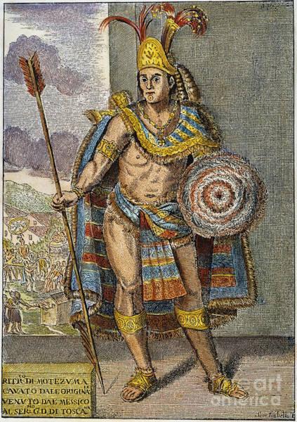 Photograph - Montezuma II (1480?-1520) by Granger