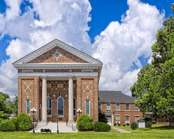 Greek Revival Architecture Photograph - Montezuma United Methodist Church by Mark Tisdale