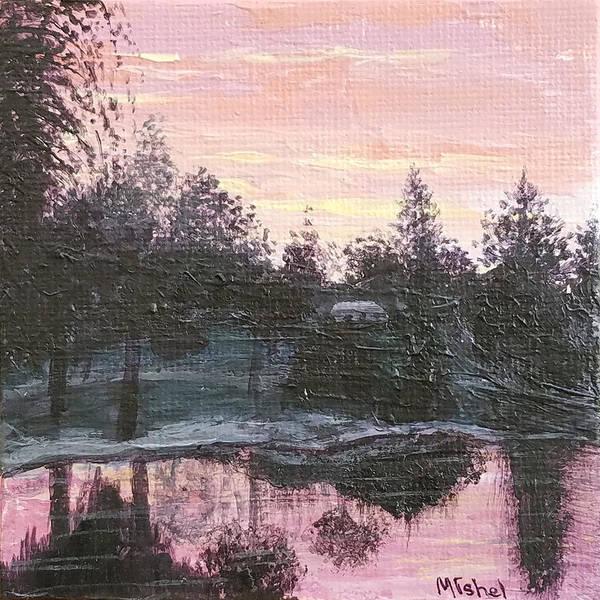 Painting - Montgomery Pond by Mishel Vanderten