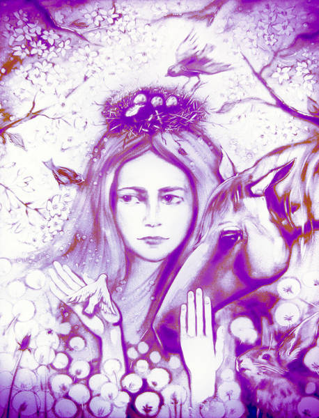 Painting - Month May Allegory. Lavender by Elena Vedernikova