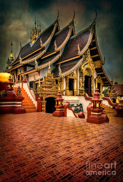 Wall Art - Photograph - Monthian Temple Chiang Mai  by Adrian Evans
