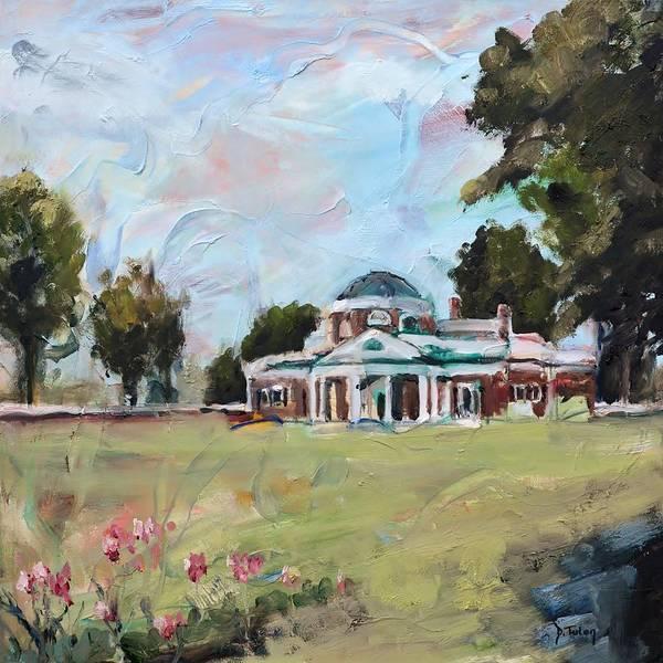 Monticello Painting - Monticello Charlottesville Virginia by Donna Tuten
