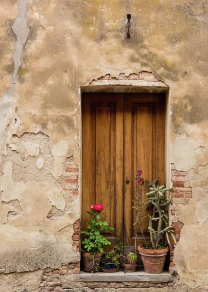 Photograph - Montisi Doorway - Vertical by Michael Blanchette