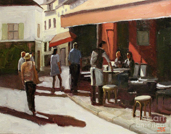 Wall Art - Painting - Montmarte Cafe by Tate Hamilton