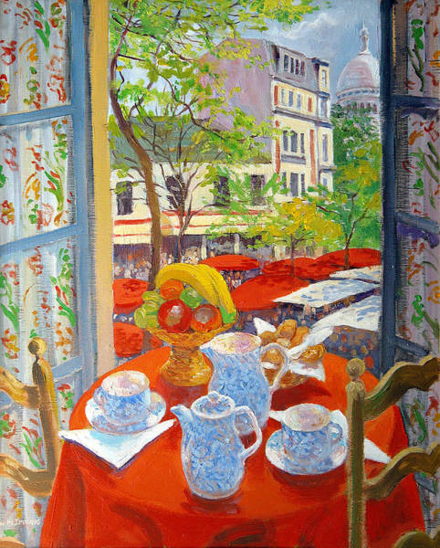 Teacup Painting - Montmartre by William Ireland