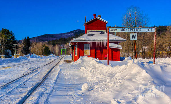 Photograph - Montpelier Train Station by Scenic Vermont Photography