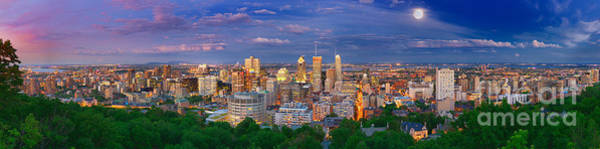 Quebec Photograph - Montreal At Night by Laurent Lucuix