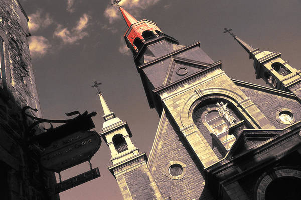 Photograph - Old Montreal Chapel - Notre Dame De Bonsecours by Peter Potter