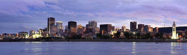 Quebec City Photograph - Montreal City Panorama At Sunset by Pierre Leclerc Photography