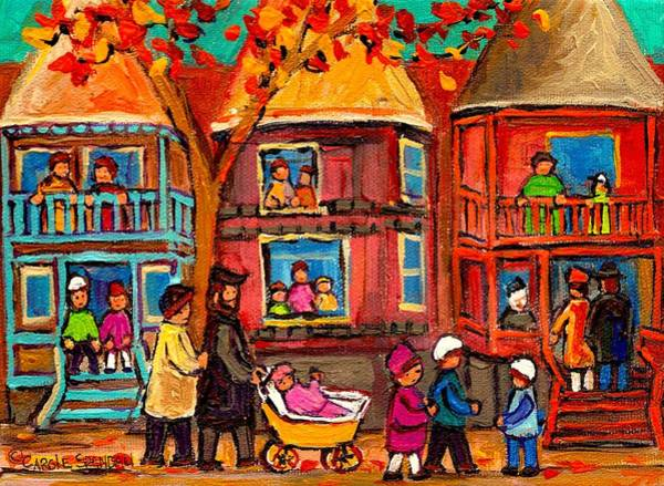 Old Montreal Painting - Montreal Early Autumn by Carole Spandau