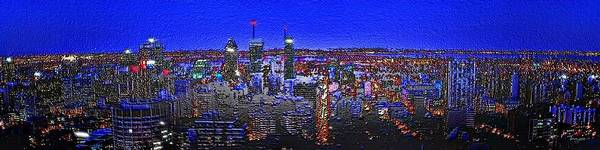 Digital Art - Montreal Etched by Mark Taylor