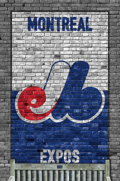 Wall Art - Painting - Montreal Expos Brick Wall by Joe Hamilton