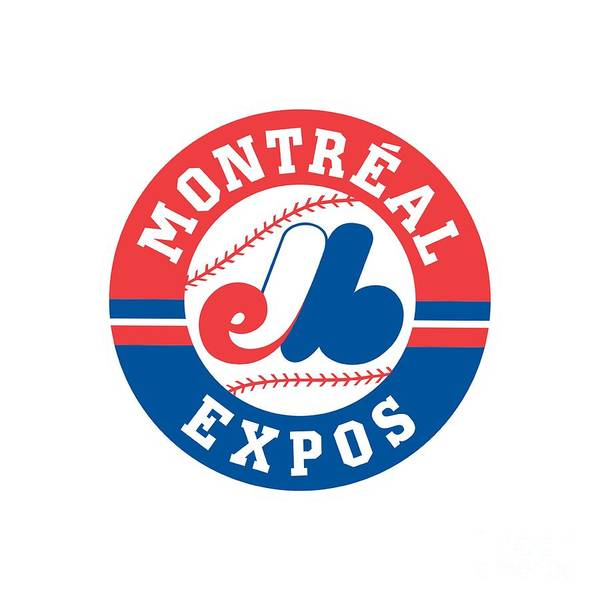Montreal Digital Art - Montreal Expos Retro Logo by Spencer McKain