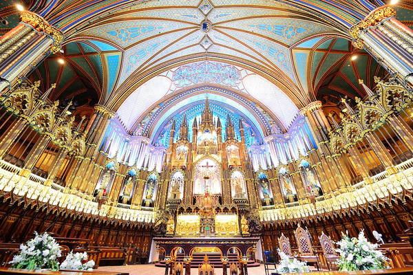 Photograph - Montreal Notre-dame Basilica by Songquan Deng