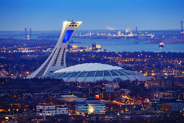Quebec City Photograph - Montreal Olympic Stadium by Mircea Costina Photography