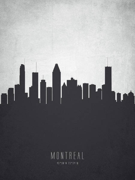 Montreal Wall Art - Painting - Montreal Quebec Cityscape 19 by Aged Pixel