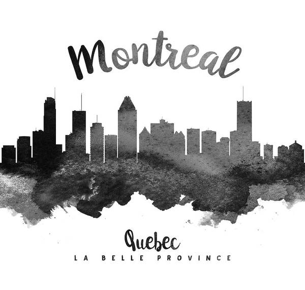 Quebec Painting - Montreal Quebec Skyline 18 by Aged Pixel