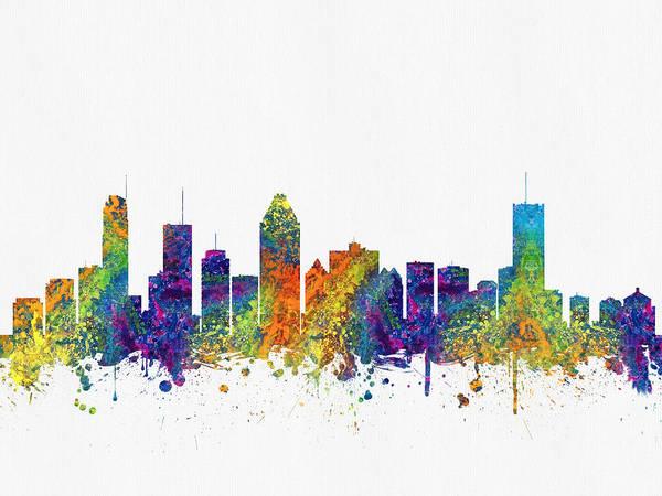Quebec City Digital Art - Montreal Quebec Skyline Color03 by Aged Pixel