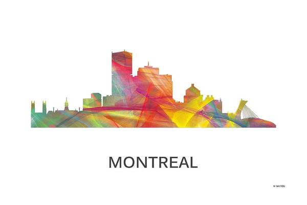 Montreal Digital Art - Montreal Que.skyline by Marlene Watson