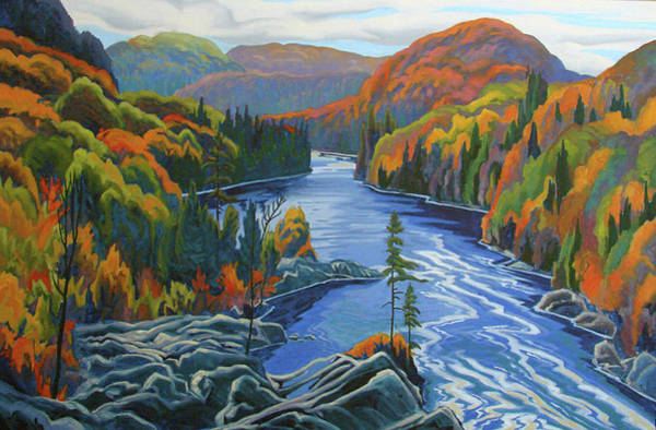 Wall Art - Painting - Montreal River Algoma by Paul Gauthier
