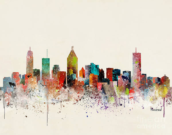 Montreal Wall Art - Painting - Montreal Skyline  by Bri Buckley