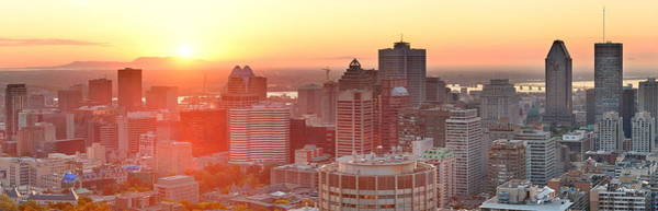 Photograph - Montreal Sunrise Panorama by Songquan Deng