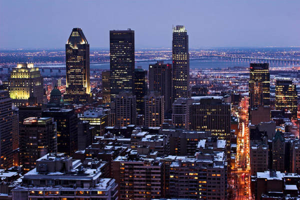 Photograph - Montreal Winter Cityscape  by Pierre Leclerc Photography