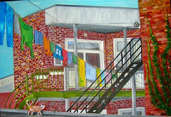 Back Door Painting - Montreal.p.q 2 by Arthur Antille
