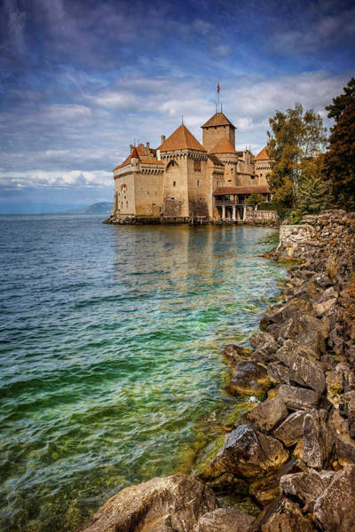Lemans Wall Art - Photograph - Montreux Switzerland Chateau De Chillon  by Carol Japp