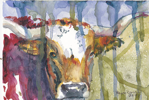 Longhorn Painting - Montrose Longhorn by P Maure Bausch