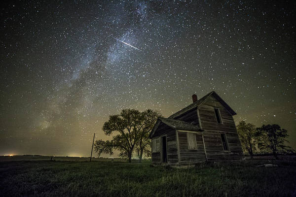 Abandoned House Wall Art - Photograph - Montrose Orionid by Aaron J Groen