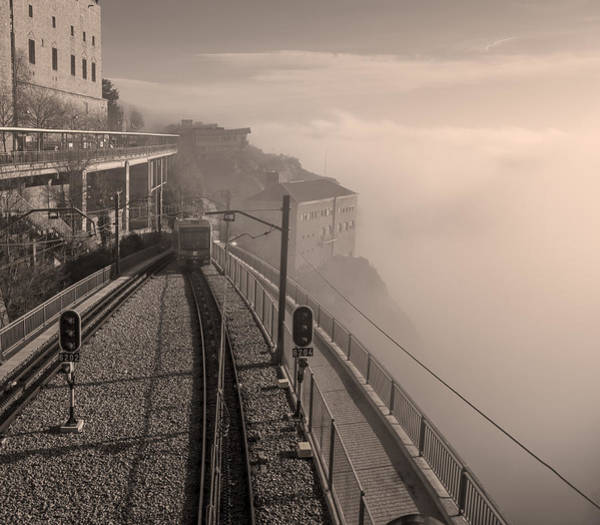 Photograph - Montserrat Winter Morning Bw by Joan Carroll